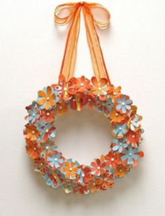 DIY flower wreaths are perfect for any season, just switch up the color!