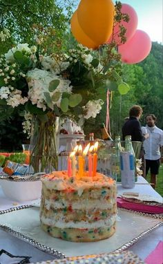 Pretty Birthday Cakes, Pretty Cakes, Cute Cakes, Happy Birthday, Think Food, Bday Girl, Aesthetic Food, Let Them Eat Cake, Food Porn