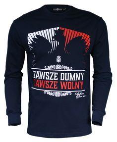 Longsleeve 'Zawsze Dumny' - przód ---> Streetwear shop: odzież uliczna, kibicowska i patriotyczna / Przepnij Pina!