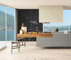 Cuisine design Lago #summer #blue #jaune #bleu #yellow #interior #design #architecture #lagostoreparis