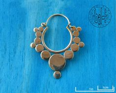 earrings piercing small dots brass (pair) tribal ear ethnic body jewelry de la boutique TribalEar sur Etsy