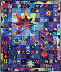 """2008 Raffle Quilt, """"Cosmic"""", Mary's River Quilt Guild (Oregon)"""