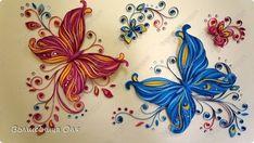 Картина панно рисунок Квиллинг Бабочки Бумага фото 3