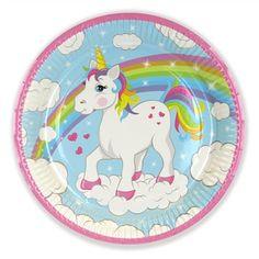 Unicorn Paper Dinner Plates
