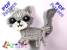 Wolf crochet pattern  This is an -INSTANT DOWNLOAD- pattern of a cute Wolf…