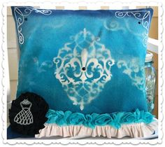 Canvas Pillow using @Canvas Corp, Tattered Angels and Want2Scrap.
