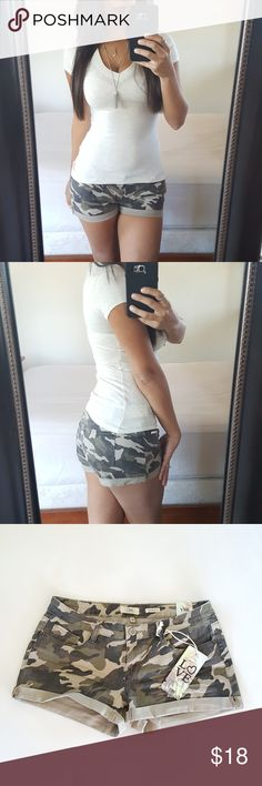Sexy Camo Shorts Size 5 Brand new with tags, size 5. Fast shipper!  🚫Holds or trades🚫  #shorts #camoshorts #doorswear #outdoors #sexy #sexyshorts #fashion #boutique #fashionable #fashionlover #womensfashion #shopping #happy Shorts