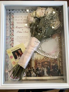 Bouquet Shadow Box, Bouquet Box, Flower Shadow Box, Wedding Memory Box, Wedding Boxes, Post Wedding, Shadow Box Wedding, Dream Wedding, Wedding Ideas