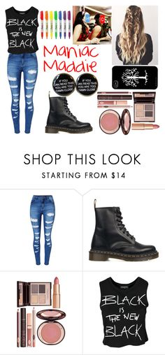 """""""Signing with Chelsei"""" by crazy-967 ❤ liked on Polyvore featuring WithChic, Dr. Martens, Charlotte Tilbury and Sally&Circle"""