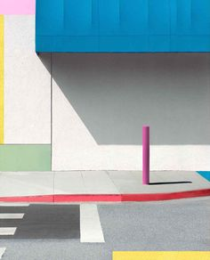 George Byrne | Blue Awning with Pink
