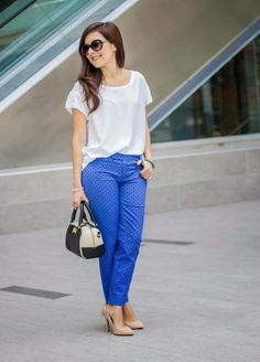 These pants add subtle color to you..