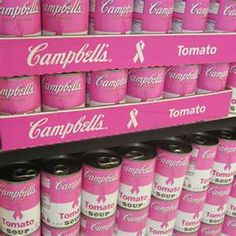 Pink Campbell's Soup Cans