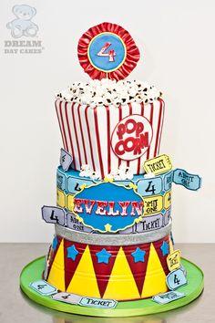 Carnival Birthday Cakes, Carnival Cakes, Circus Carnival Party, Kids Carnival, Carnival Themes, Circus Birthday, Baby First Birthday, 2nd Birthday Parties, Birthday Ideas