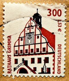 Germany stamps town hall Grimma Rathaus