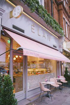 cafe restaurant The Londoner Blooming Lovely Caf - Cake Shop Design, Café Design, Coffee Shop Design, Bakery Design, Patisserie Design, Store Design, Bakery Interior, Restaurant Interior Design, Cake Shop Interior