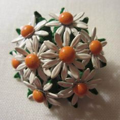 Daisy Daisy Give Me Your Answer True!  Fab Enamel 60's Daisy Pin  http://www.rubylane.com/item/882935-RL-1584/Daisy-Daisy-Give-Me-Your