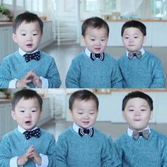 Little bow tied in their latest HanaCard CF looking as cute as ever My Children, Kids Boys, Baby Kids, Baby Boy, Cute Kids, Cute Babies, Superman Kids, Man Se, Song Daehan