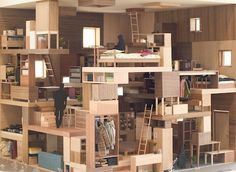 6×6×6 Architecture Images, Interior Architecture, Interior Design, Maquette Architecture, Timber Buildings, Arch Model, Urban Design, Small Spaces, Loft