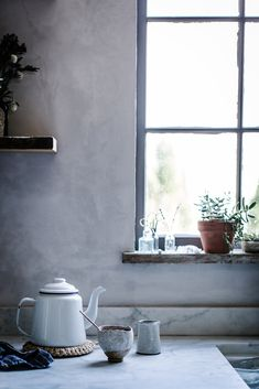 Local Milk is a journal devoted to home cookery, travel, family, and slow living—to being present & finding sustenance of every kind. Interior Exterior, Kitchen Interior, Interior Modern, Grey Kitchen Walls, Kitchen White, Country Kitchen, Kitchen Dining, Kitchen Decor, Kitchen Ideas