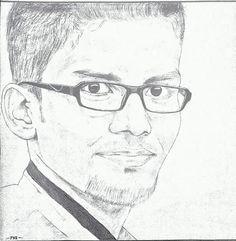 my pencil art on nice photo of my friend NisHan ParappanangaDi
