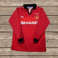 This item is unavailable Football Kits, Football Soccer, Retro Football Shirts, Manchester United Football, Fa Cup, Adidas Jacket, The Unit, Trending Outfits, Long Sleeve
