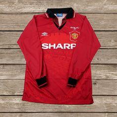 This item is unavailable Retro Football Shirts, Manchester United Football, Football Kits, Color Calibration, Fa Cup, Adidas Jacket, Soccer, The Unit, Long Sleeve