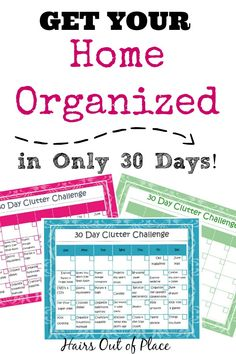 Only 30 days to a clutter free home with our home organization printables! You can easily complete our declutter challenge in 30 days to make your home cleaner and more organized.