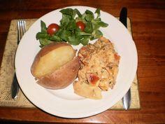 Gepofte aardappel met champignon ragout @Retour à la Source