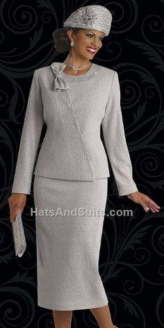 Donna Vinci KNITS 13101 Fall & Holiday 2015, 2 Pc. Jacket & Skirt Set