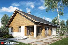 Wizualizacja AT Bursztyn V CE House Plans, Cabin, House Styles, Outdoor Decor, Studio, Home Decor, House Plans With Pool, Farmhouse, Decoration Home
