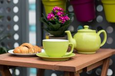 Tea is more magical when it comes in a large bright green cup! Green Cups, Beer Garden, Diy Supplies, Outdoor Entertaining, Bright Green, New Furniture, Garden Projects, Some Fun, Cup And Saucer