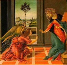 天使の絵画bot(@art_of_angel)さん | Twitter  サンドロ・ボッティチェリ 『受胎告知』(1489)