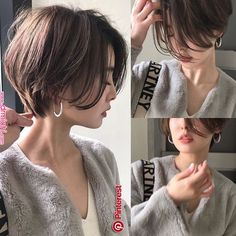 Popular Short Haircuts 2018 – 2019 - Love this Hair Asian Short Hair, Very Short Hair, Short Hair With Layers, Really Short Bob, Popular Short Haircuts, Short Hairstyles For Women, Pretty Hairstyles, Shot Hair Styles, Curly Hair Styles