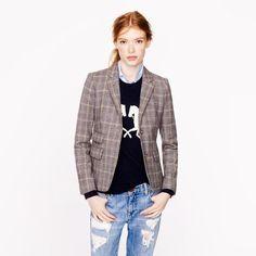 J.Crew Schoolboy blazer in English tweed ($238) found on Polyvore