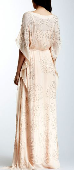 Rose beaded maxi dress