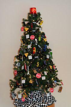 Sweet Sassy Studio: Holy Hotwheels It's a Boys Dream Christmas Tree!