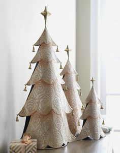Christmas Trees~Make from tin ceiling tiles?