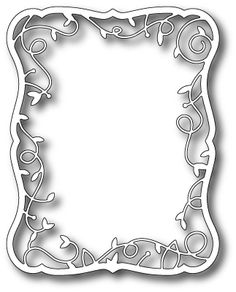 """Twirling Vine Frame - $21.99   The Twirling Vine Frame by Memory Box is perfect for a bouquet or a scene!  The Debutante Frame makes a perfect background for the Twirling Vine Frame!  Approximately 4"""" x 5.1"""""""