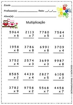 How To Produce Elementary School Much More Enjoyment Multiplicaco Math Practice Worksheets, Multiplication Worksheets, Social Studies Worksheets, Printable Preschool Worksheets, Math Drills, English Teaching Materials, Math Charts, Fourth Grade Math, Math Practices