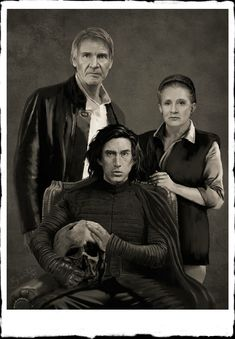 Ben Solo son of Han Solo and Leia Organa  (Princess Leia) which Ben later called himself Kylo Ren. Ben or Kylo is holding his Grandfather's Helmet Aka Darth Vader