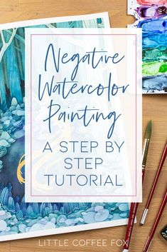 Watercolor Pencils Techniques, Watercolor Paintings For Beginners, Watercolor Art Lessons, Watercolor Projects, Watercolour Tutorials, Painting Lessons, Abstract Watercolor Tutorial, Watercolor Illustration Tutorial, Step By Step Watercolor