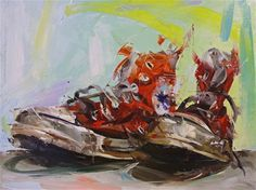 """""""Red"""" by Paul Wright. [Oil]"""