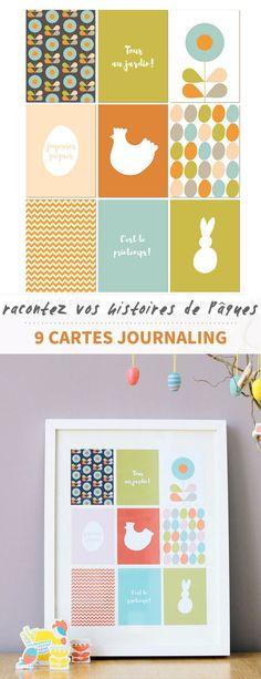 Mettez en valeur vos histoires de Pâques grâce à ces 9 cartes journaling, à imprimer ou à utiliser au format digital dans vos pages de scrapbooking.