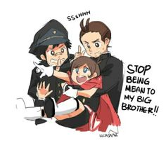 [SPOILERS AHEAD] - AU wherein Thalassa didn't abandon Apollo. Zak Gramarye becomes Apollo's stepfather, thus Apollo and Trucy grows up together in a normal, not sad, family setting. Credits to artist!