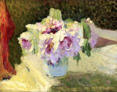 Edouard Vuillard Vase de fleurs, x 42 cm) Art Floral, Edouard Vuillard, Manet, Flower Vases, Flower Art, Still Life Flowers, Impressionist Artists, Paintings I Love, Flower Paintings