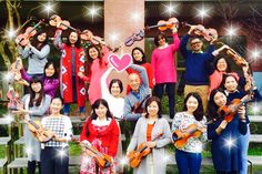 A pose after Violin Teacher Training Book 3 at Taiwan  on January 19, 2016.