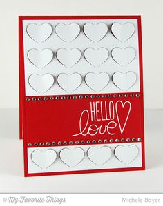 I Love You More, Fluttering Hearts Cover-Up Die-namics - Michele Boyer #mftstamps