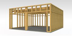Planning To Build A Shed? Now You Can Build ANY Shed In A Weekend Even If You've Zero Woodworking Experience! Start building amazing sheds the easier way with a collection of shed plans! Plan Garage, Garage Exterior, Carport Plans, Shed Plans, Carport Designs, Garage Design, Construction Garage, Carport With Storage, Home Depot Shed