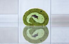 Matcha roll cake at WA Cafe in West London.
