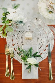 Love the crochet table setting